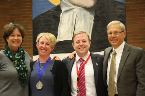 Heroic Vow Assembly Honors Seniors and Teacher of the Year