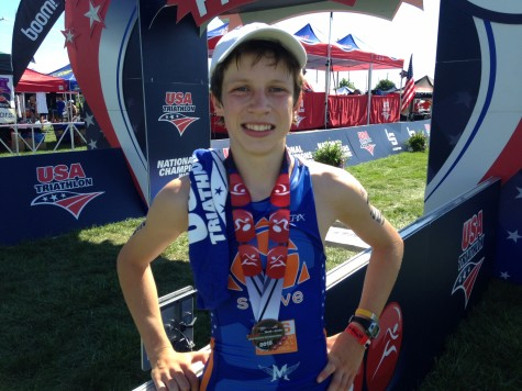 Sophomore Andy Krueger Balances School and Triathlons