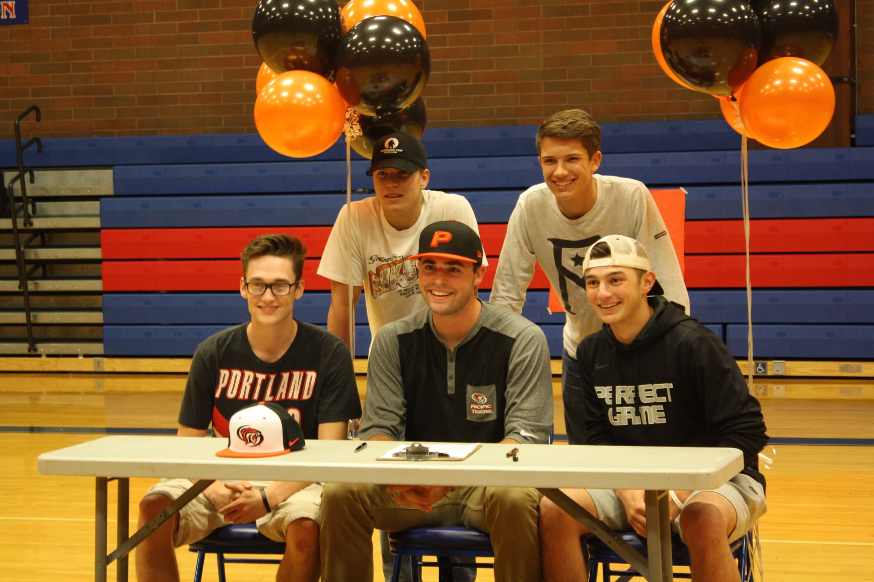 Ole Arnston, center, has committed to playing Division-1 baseball at The University of the Pacific.