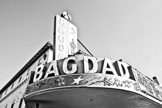 The Bagdad Theater is a popular place on Hawthorne Street to see movies.