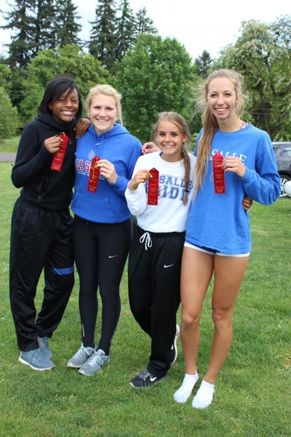 The 4x100m relay team after districts last weekend