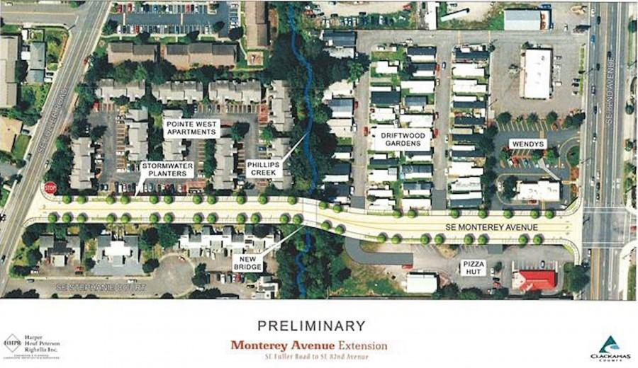 Extension to Monterey Avenue: a New Shortcut from 82nd Ave to Fuller Rd
