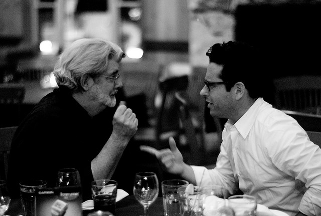 George Lucas and JJ Abrams, photographed in 2007.