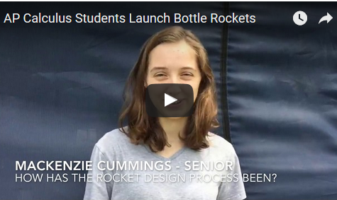 AP Calculus Students Launch Final Project: Bottle Rockets