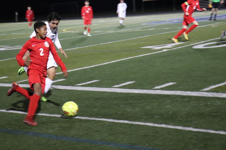 Freshman Mizael Harris has scored two goals this season.