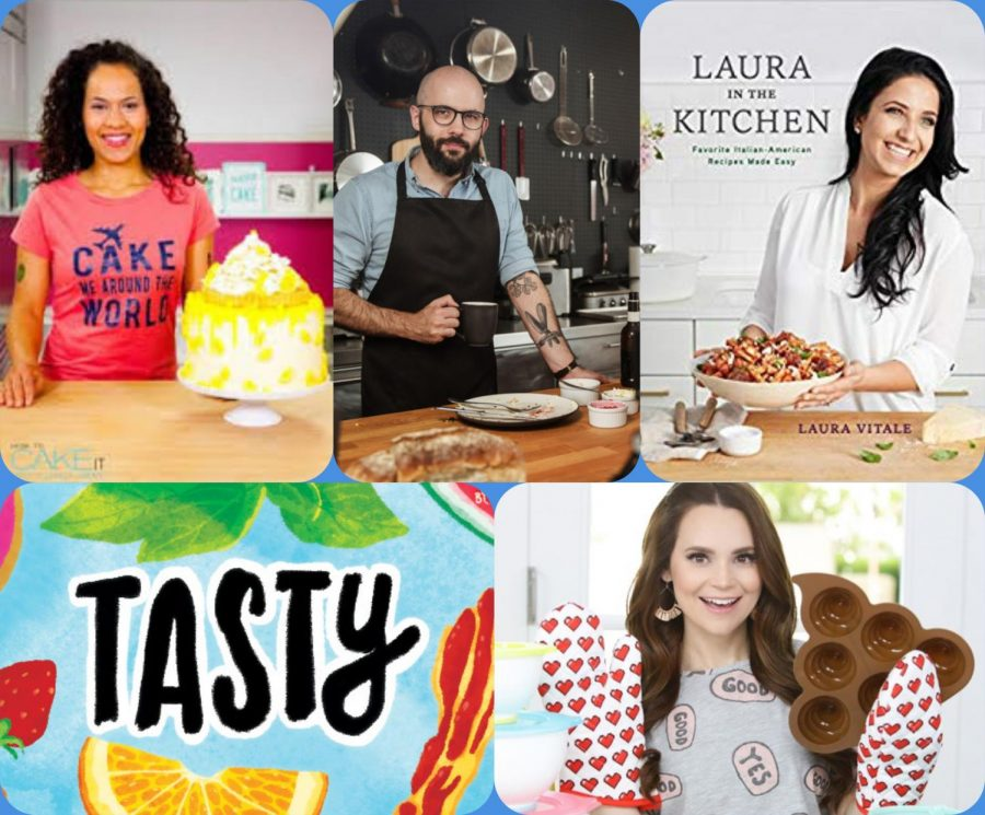 %28Clockwise+from+top+left%29+%22How+to+Cake+It%22%2C+%22Binging+with+Babish%22%2C+%22Laura+in+the+Kitchen%22%2C+%22Nerdy+Nummies%22%2C+and+%22Tasty%22+are+popular+cooking+channels+on+YouTube.