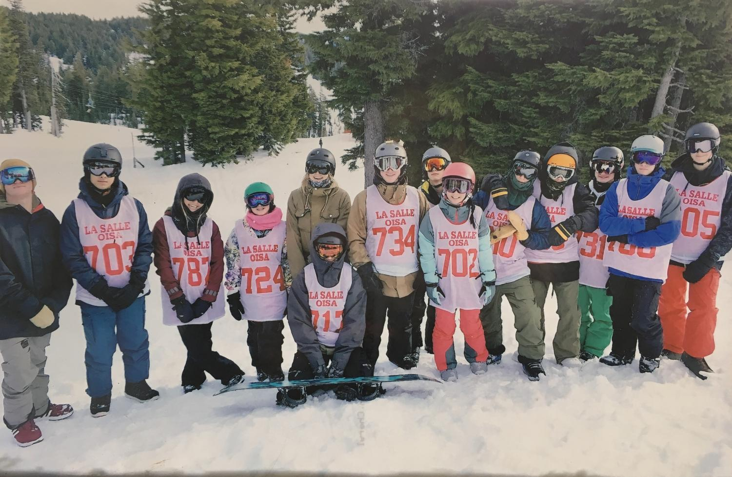 The snowboard team from 2017