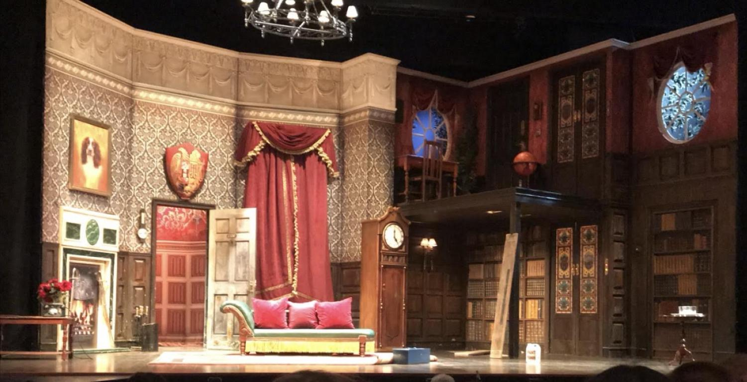 A set from the Broadway play