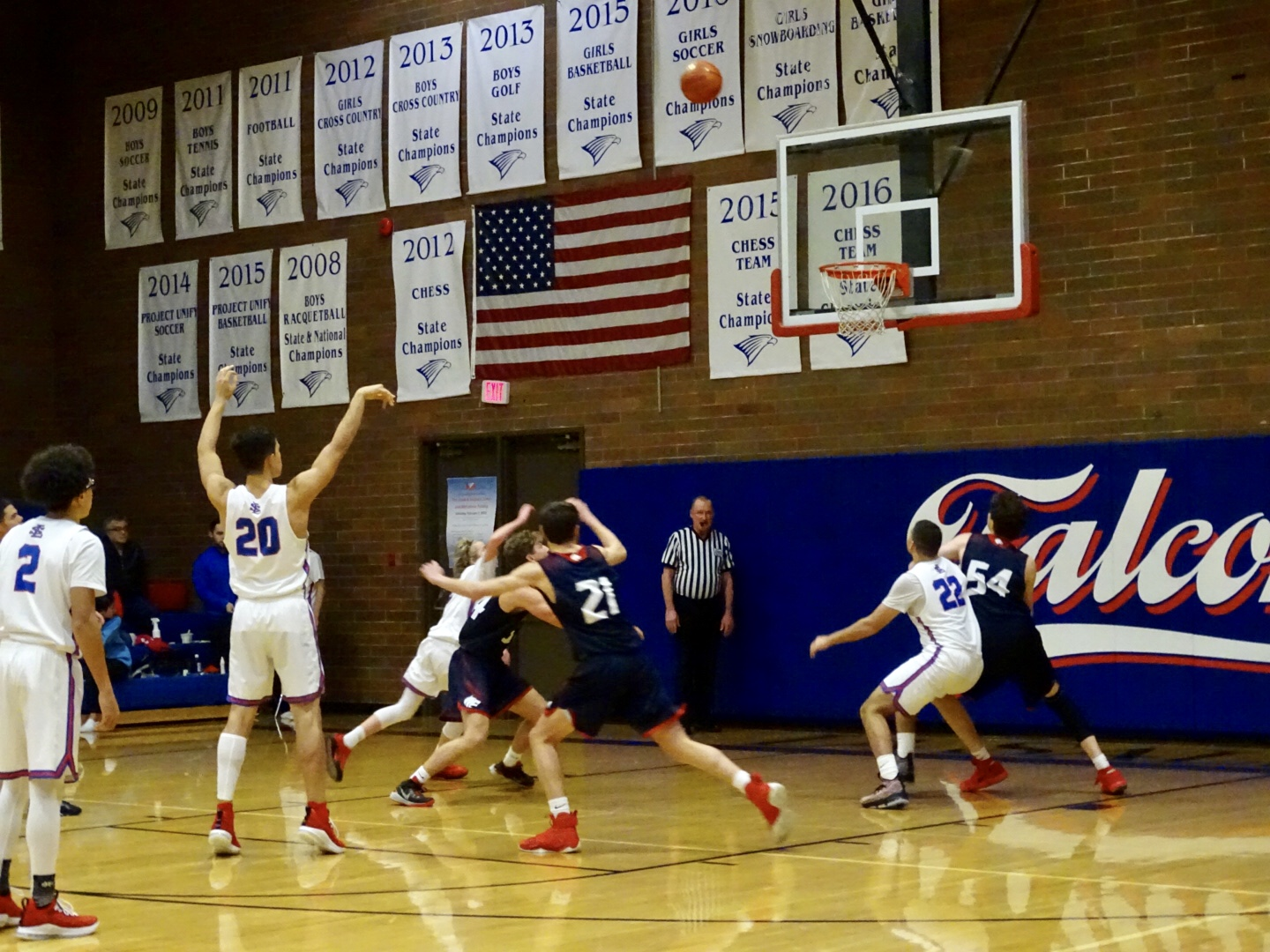 The Falcons in action in the brick oven on Dec. 7, 2018 against Black Hills.