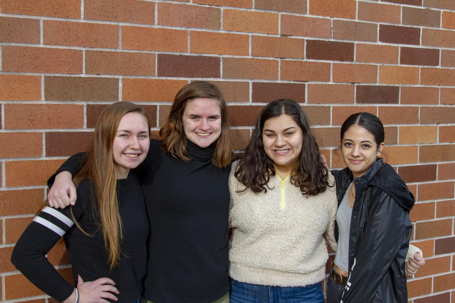Seniors Kiriahna Edeline, Madison York, Dani Rinz, and Ana Lopez Bonilla were among those who expressed a desire for a change in the dress code policy on nose piercings.
