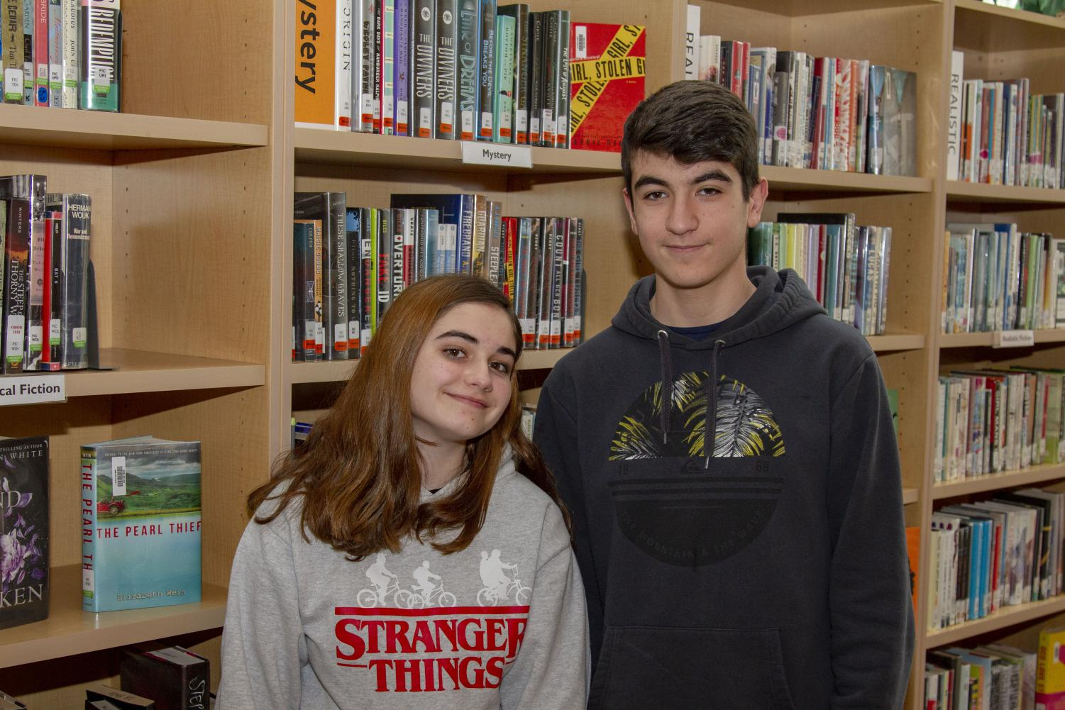 Sophomore exchange students Alicia Merayo Alonso and Jorge Carbonero Asin are here through Friday, March 8.
