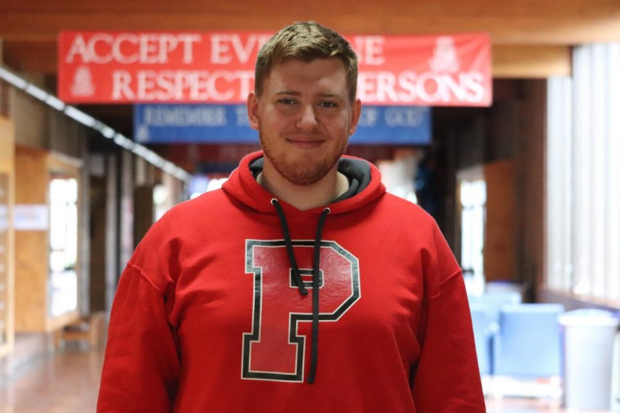 Lucas Van Wagner signed a National Letter of Intent to play football at Pacific University on Wednesday, Feb. 6.