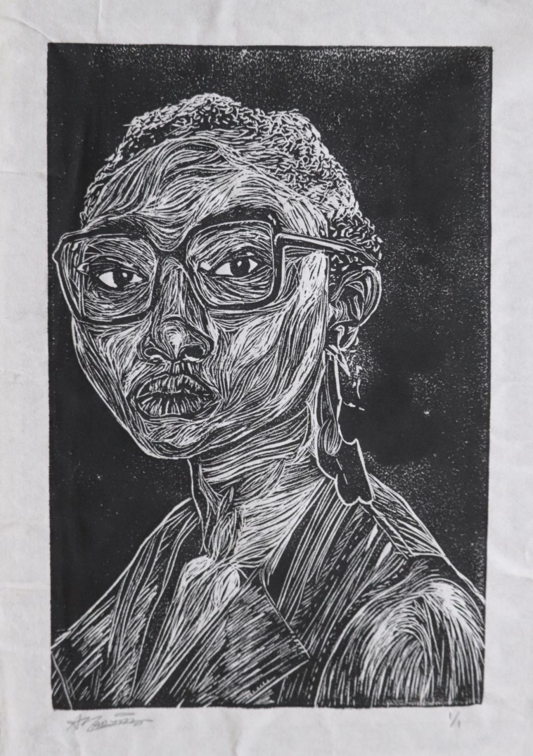 This+scratchboard+piece+was+done+by+senior+Ana+Marie+Martinez.