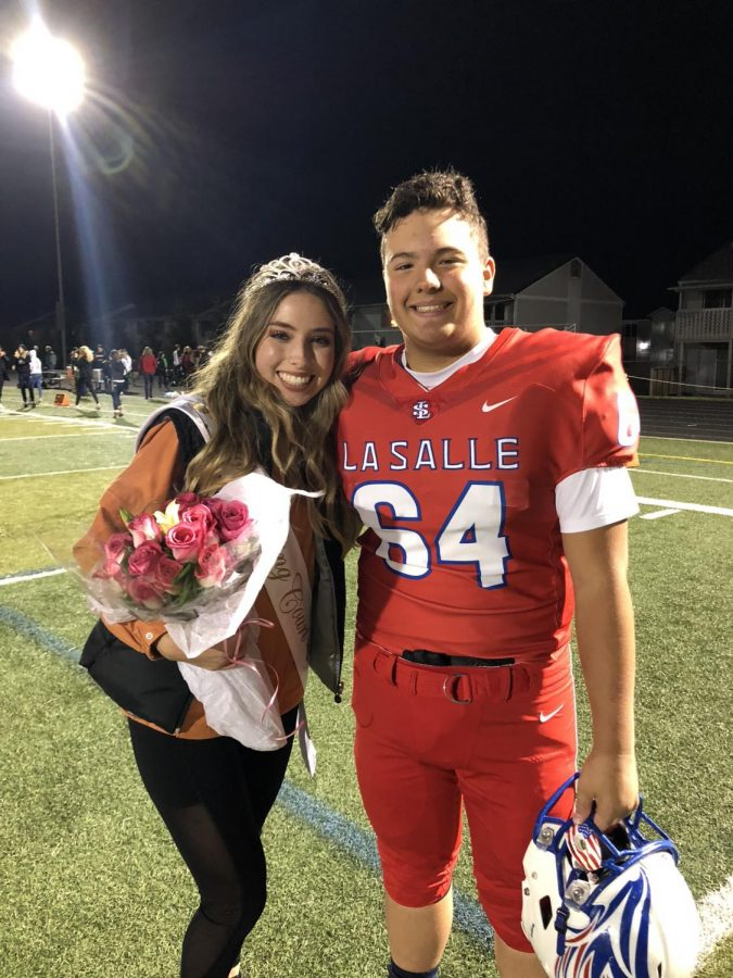 Griffiths+and+her+brother+William+after+the+Falcons+won+over+Parkrose+during+the+Homecoming+game+and+after+Griffiths+won+Homecoming+queen.