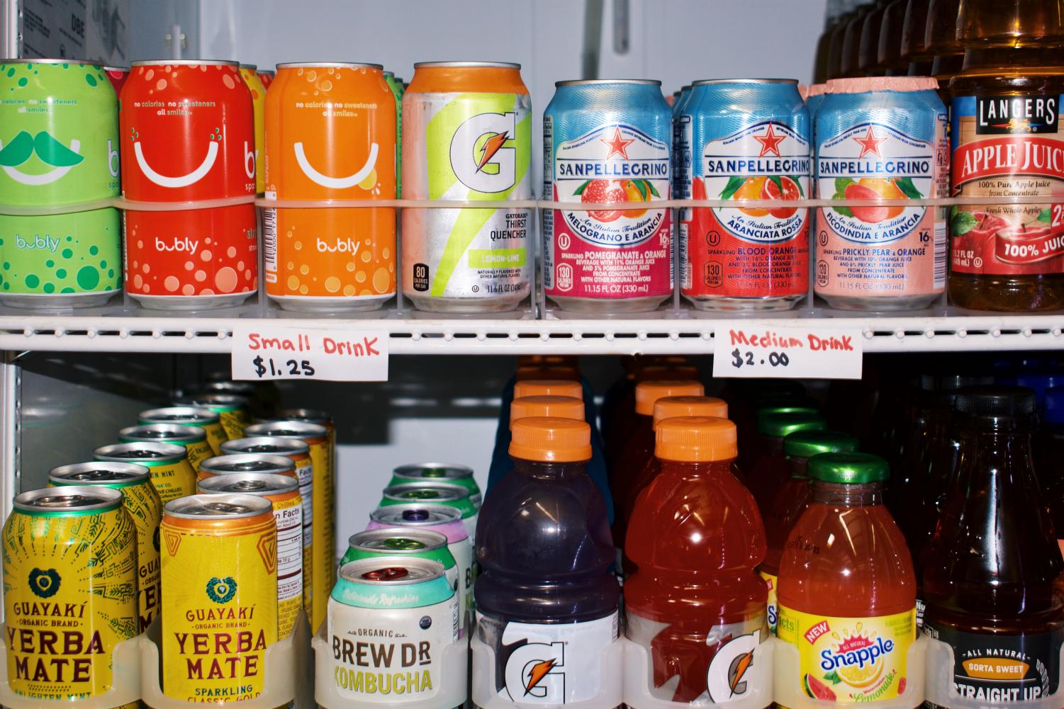 The La Salle cafeteria offers a range of drink options — some contain more sugar than students may realize.