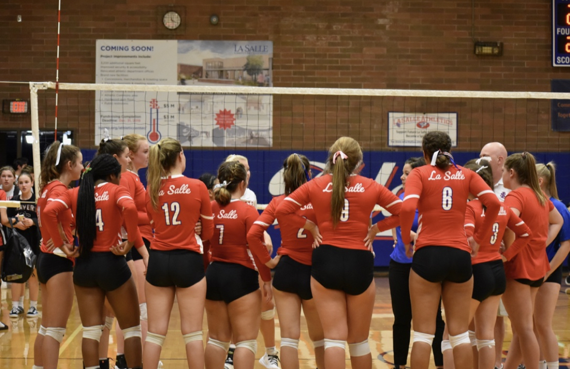 After+Losing+Eight+Seniors+and+Hiring+New+Coaching+Staff%2C+Varsity+Volleyball+Begins+the+Season+With+Two+Wins