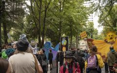 Thousands of activists gathered in Portland on Friday, Sept. 20, ditching school and work to demand action to address climate change.