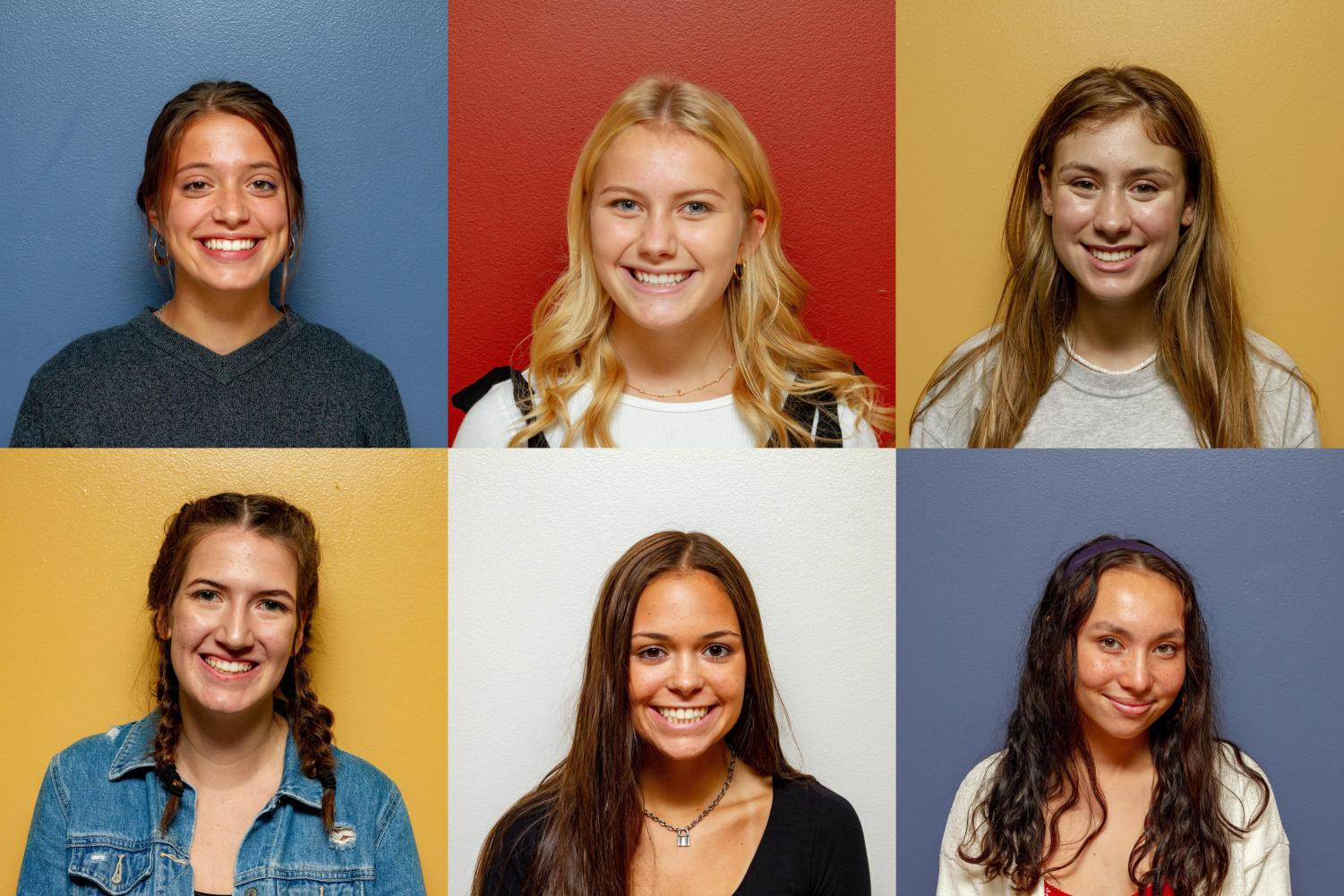 Meet your new members of the editorial board: Maya Smith, Maggie Rasch, Dakota Canzano, Mallory Middendorff, Carlie Weigel, and Maddie Khaw.