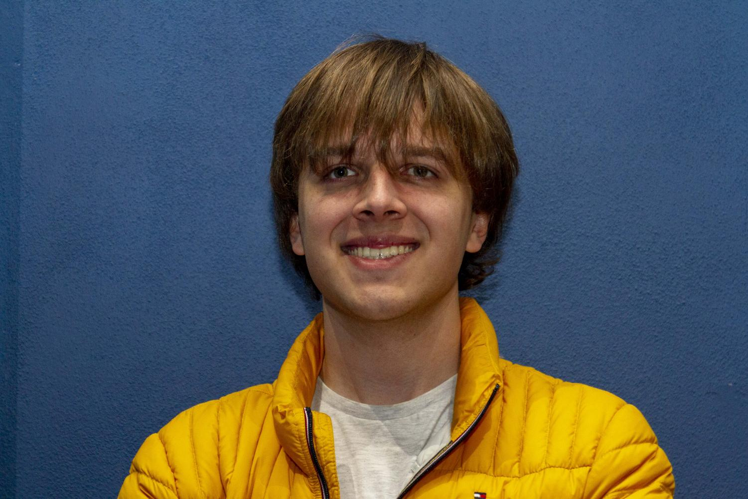 One of senior Andrew Harder's favorite classes is advanced acting.