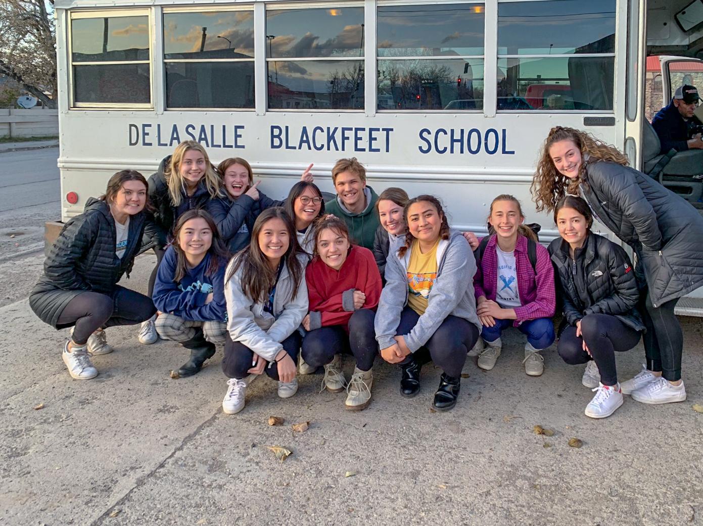 A group of 13 La Salle seniors traveled to Browning, Montana to volunteer at De La Salle Blackfeet School from Oct. 12 to Oct. 19.