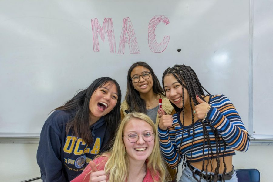 Seniors+Alison+Paguio%2C+Abby+Baines%2C+Annie+Hoang%2C+and+Amira+Tripp+Folsom+are+working+towards+normalizing+the+discussion+of+menstruation+in+the+La+Salle+community.
