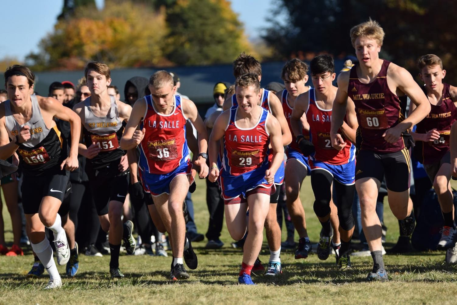 The boys varsity cross country team placed 4th at districts on Wednesday Oct. 31.