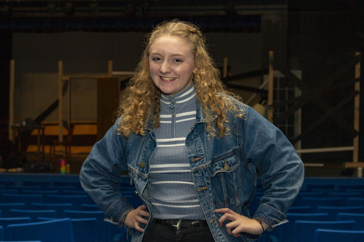 Junior Aislinn McCarthy spends a great amount of time in the La Salle theater.