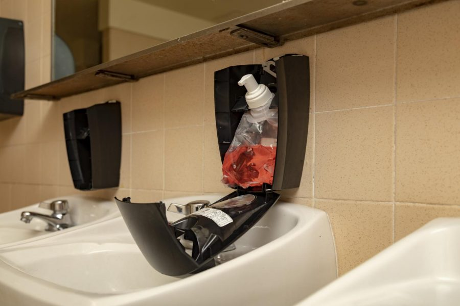 Recent incidents of vandalism have caused damage to soap dispensers in several boys restrooms.