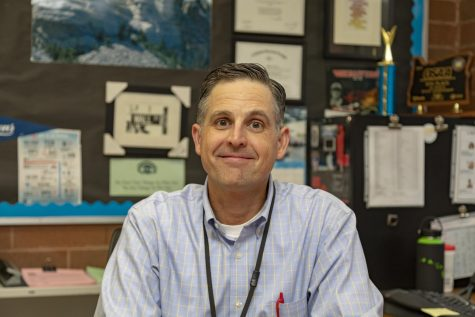 Mr. Michael Doran, social studies teacher, is the head coach of the speech and debate team.