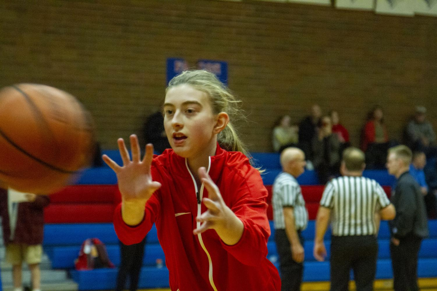 Freshman Eliza Buerk wants to help her team win the state championship this year.
