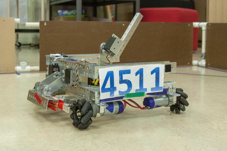 The robotics club's robot is nicknamed WALL-E.