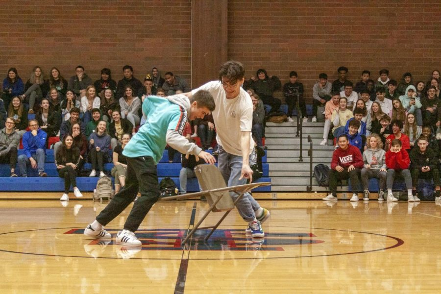 Students Compete to Win Spirit Points in the First Better Together Assembly of the Year