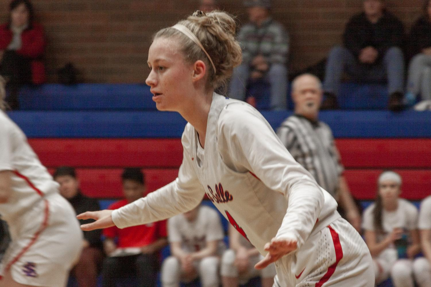 After tearing her ACL twice, senior Lindsay Drango plans on furthering her basketball career in college.