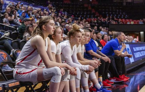 The girls varsity basketball team's season was cut short on Thursday, March 12, after OSAA cancelled the entire state tournament.