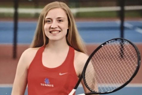 When playing tennis, senior Megan Lamey feels inspired by Serena Williams.