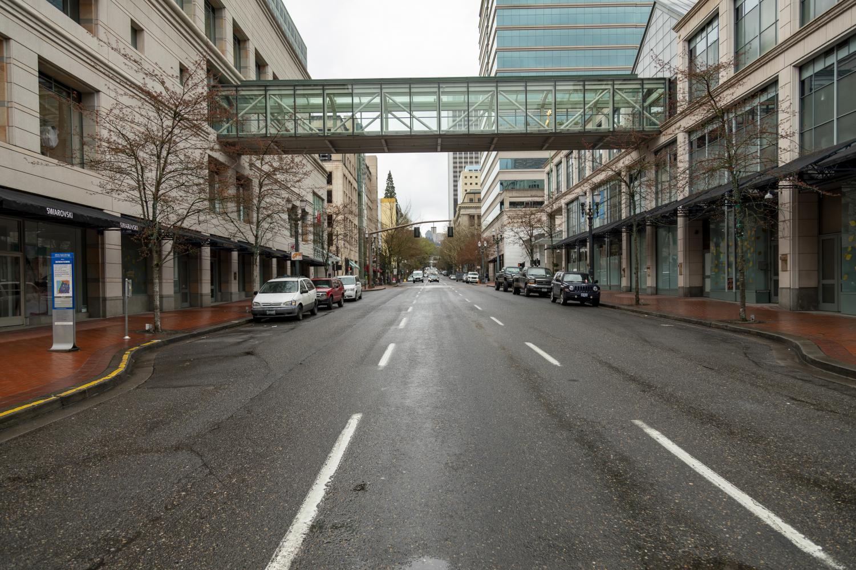 COVID-19+Leaves+Portland+Desolate