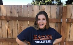 Senior Nina Timmen is committed to play volleyball at Baker University.