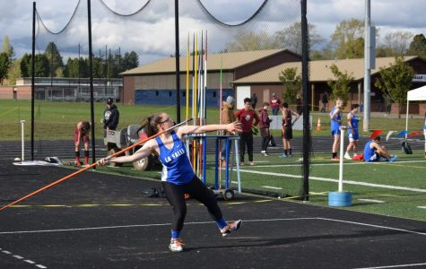 Senior Ashley Smith has broken not only her personal record, but the school record for javelin by throwing 136'3