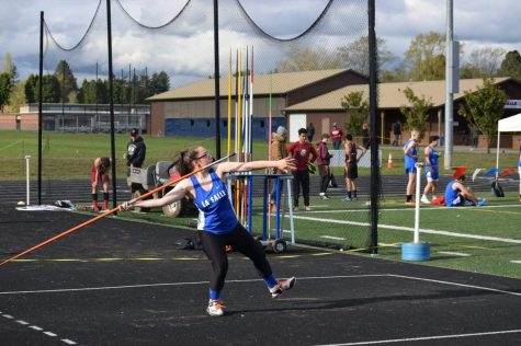 Senior Ashley Smith has broken not only her personal record, but the school record for javelin by throwing 136