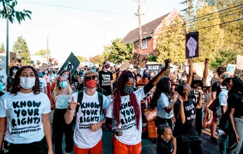 Over the summer, many La Salle students participated in protests throughout the city.