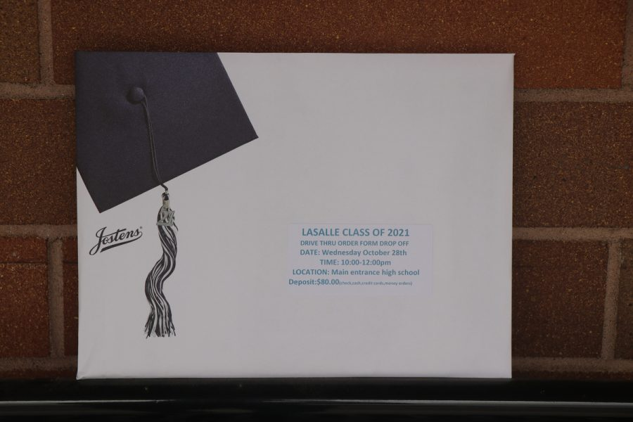 Each senior received cap and gown order forms along with graduation announcements in their packets.