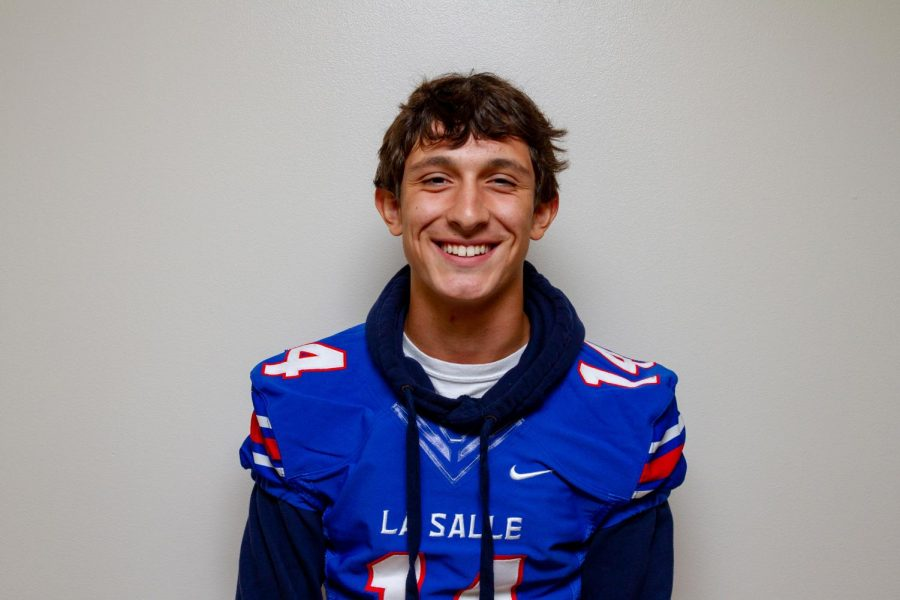 Senior Will Curran plays both football and baseball, and hopes to continue playing sports at the collegiate level.