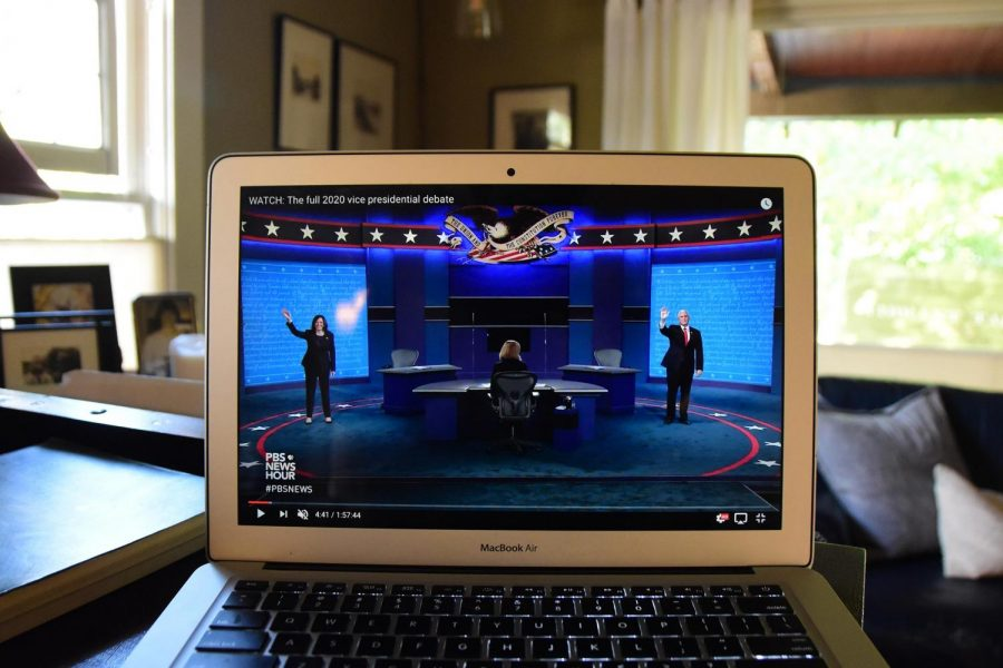 Talking about the vice presidential debate, senior Sawyer Paugh said,