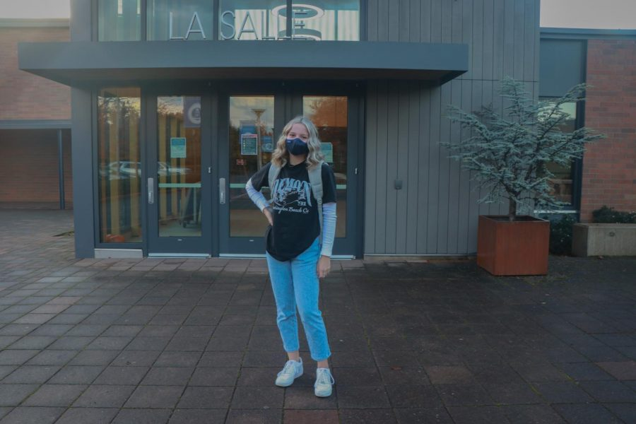 """Freshman Olivia Nelson has been playing softball since she was four, and has been playing basketball since she was six. Because of the coronavirus pandemic, """"I wasn't able to play sports for the longest time, and I didn't realize how much I miss it."""""""