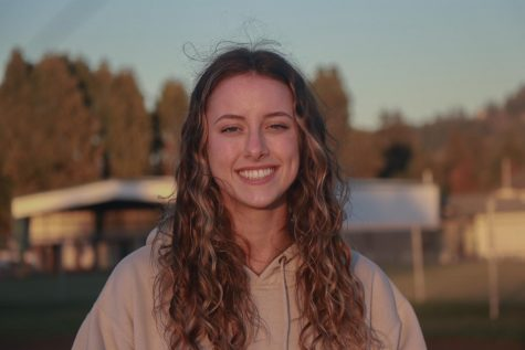 """Joining the track and field team has allowed senior Abby Sheets to compete with her friends and have an """"overall good time,"""" she said."""