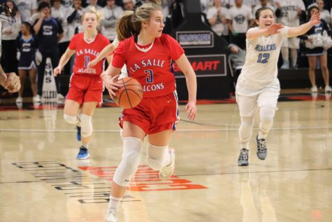 """I love [basketball] because it really pushes me and makes me stronger,"" senior Addi Wedin said."