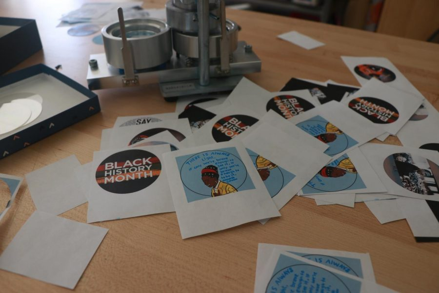 With the help of Design Thinking teacher Ms. Carie Coleman, the Black Student Union is creating pins and posters to celebrate Black History Month.