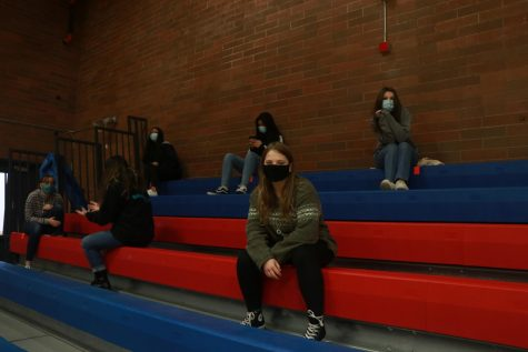 While in the gym, students were required to maintain six feet of space.
