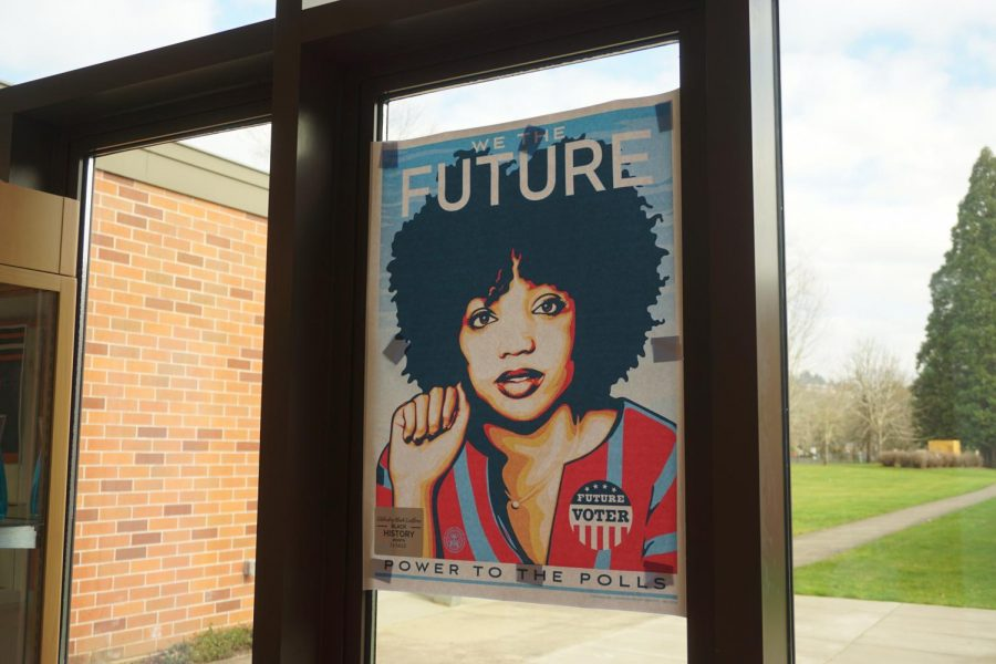 To celebrate Black History Month, posters were plastered to the walls and windows of La Salle.