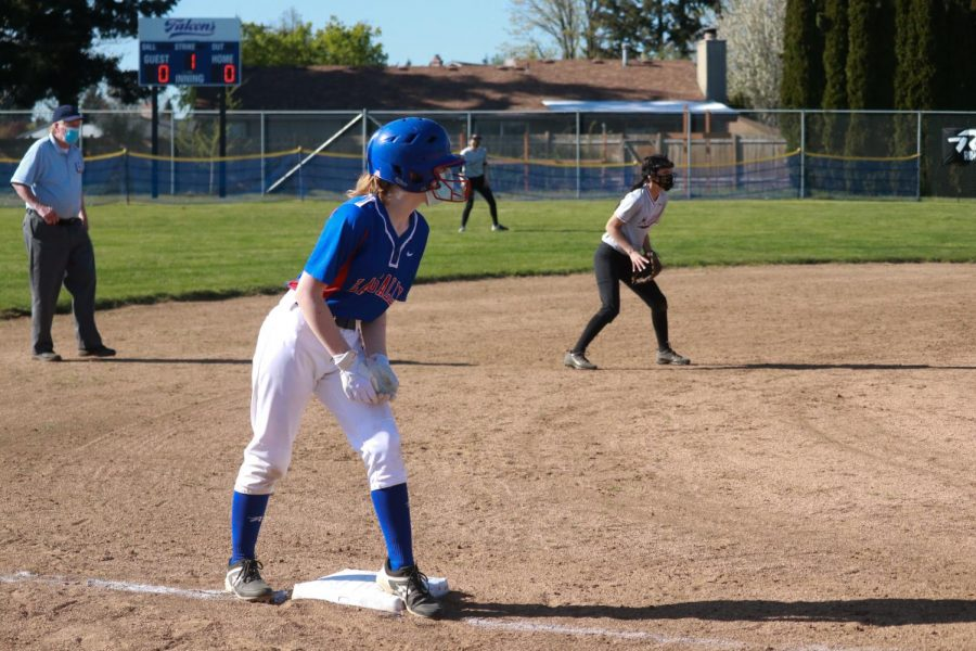 On Thursday, April 15, the JV softball team played at home against Milwaukie High School for their second game of the season.
